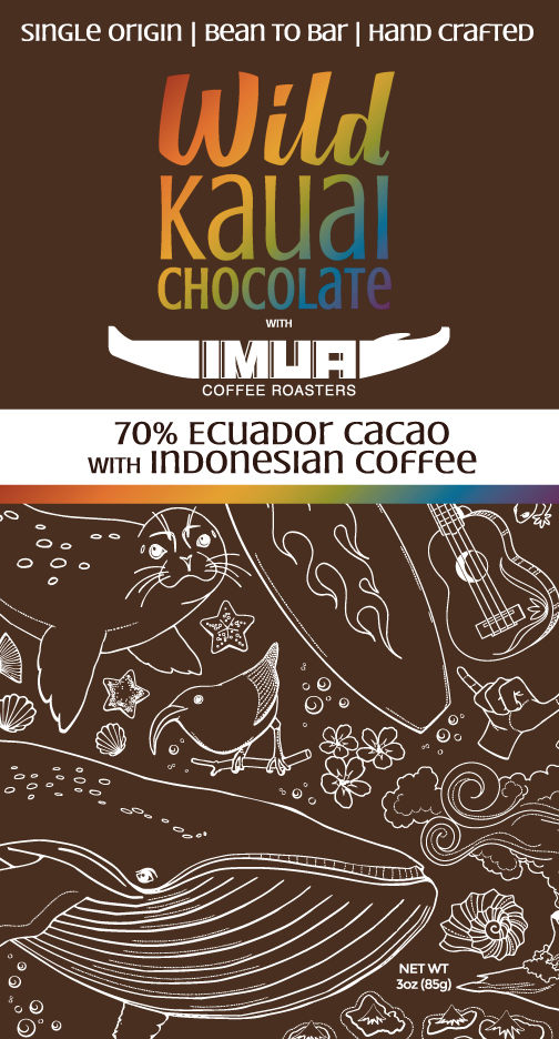 Wild Kauai Chocolate 70% Cacao Imua Coffee Beans