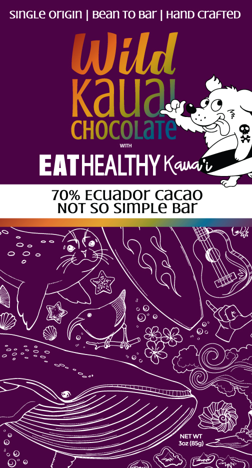 Wild Kauai Chocolate 70% Cacao Eat Healthy Kauai Not So Simple Acai Bowl Bar