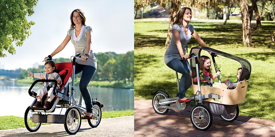 gadget aventura niños - bicicleta carrito taga