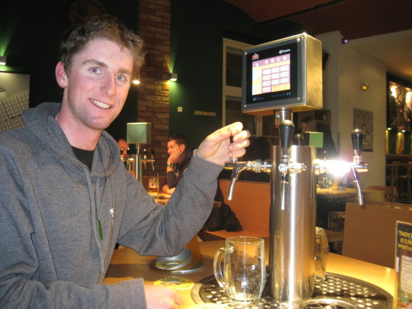 Pouring your own beer at your own table and paying by the Liter