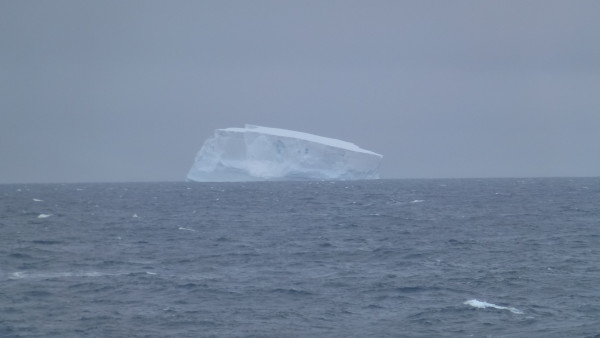 Always exciting to see the first ice berg