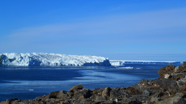 The glacier ice tounge