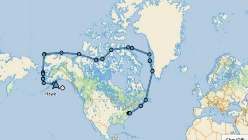 Our route through he north West Passage