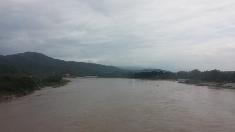 The Mekong River, The geographical Boarder between Laos and Thailand