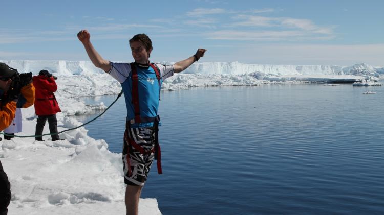 Polar Plunge in Antarctica