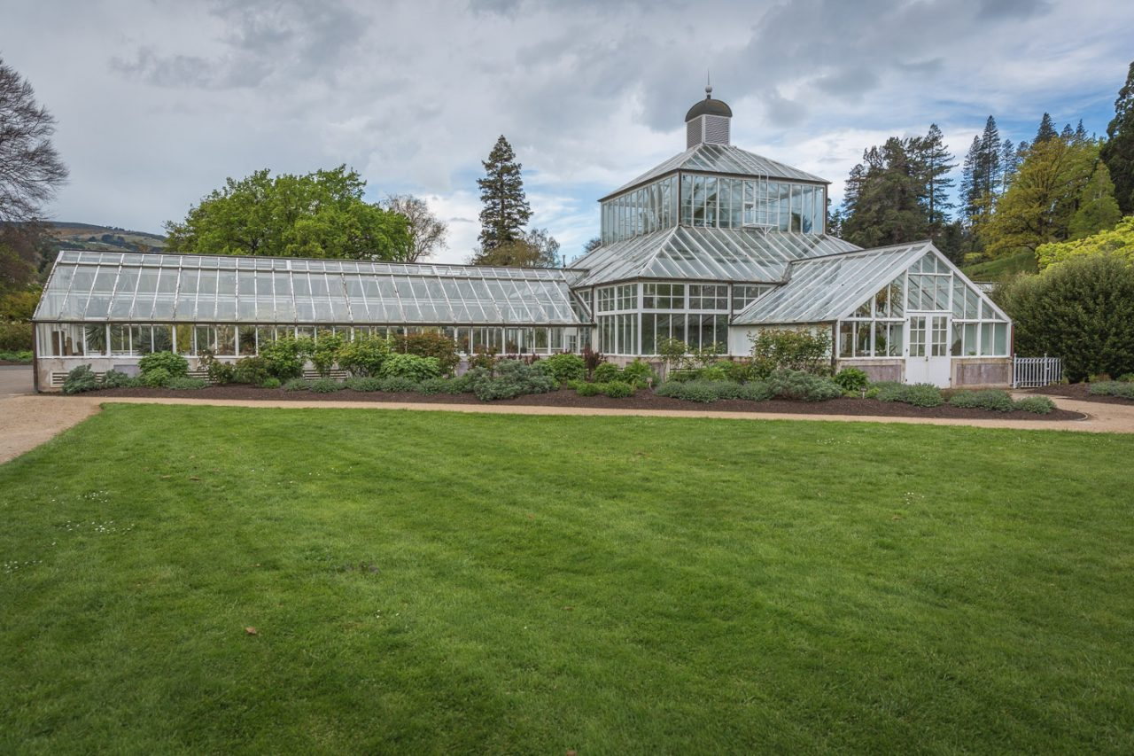 Glass Greenhouse at the Dunedin Botanical Gardens, South Island, New Zealand
