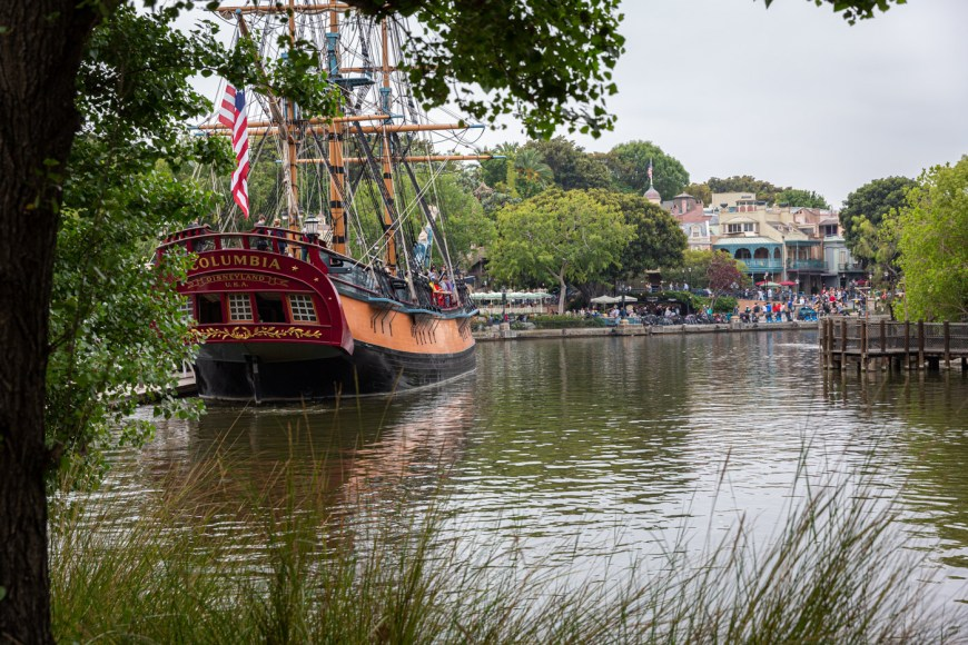 The Rivers of America and the Columbia Sailing Ship at Disneyland