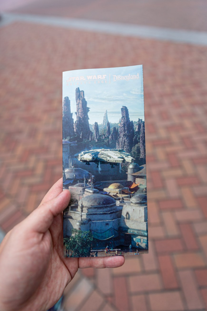 Galaxy's Edge park map at Disneyland