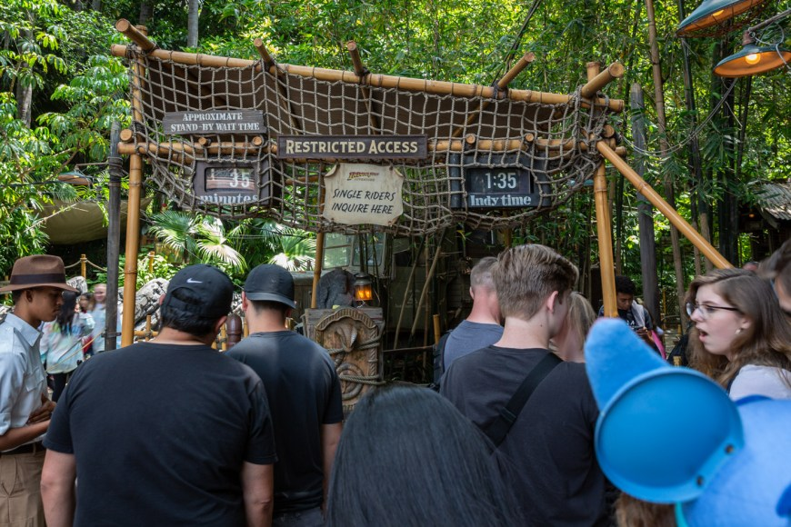 Indiana Jones Ride, Adventureland, Disneyland