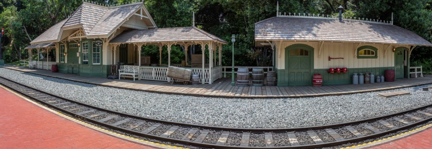 Old Frontierland train station, New Orleans Square, Disneyland