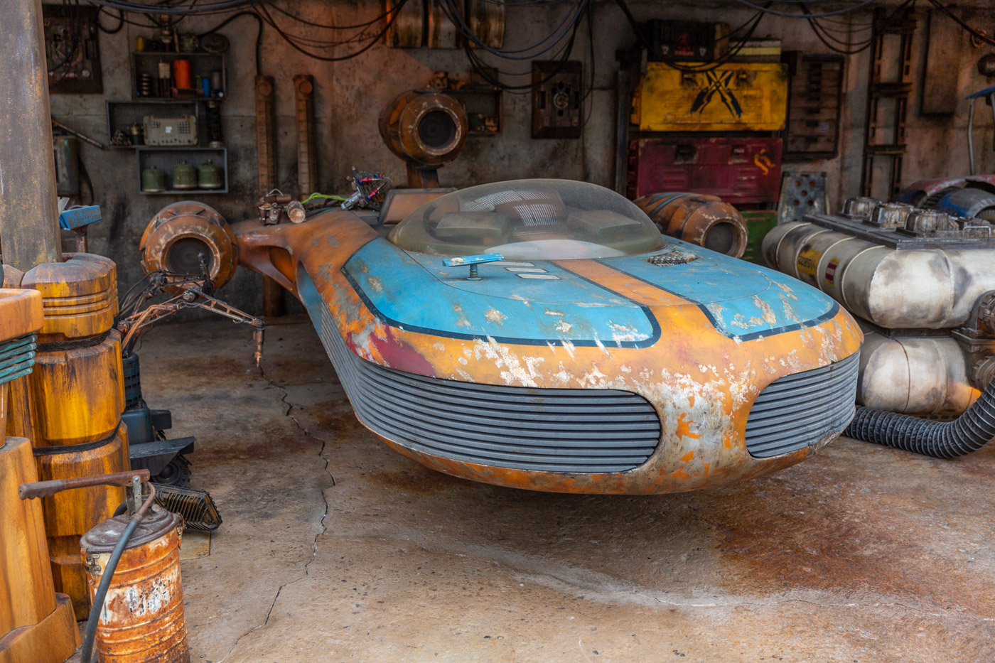 A Speeder inside Disneyland's Galaxy's Edge