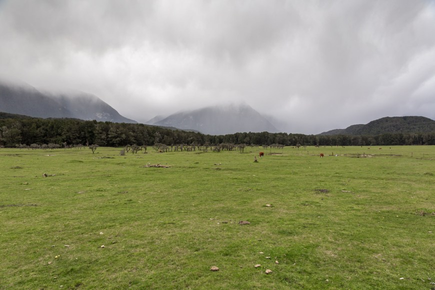 One of the pastures used for the Misty Mountains and Isengard.