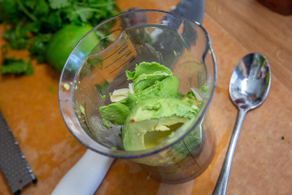 Shredded Cabbage Salad Avocado Lime Dressing