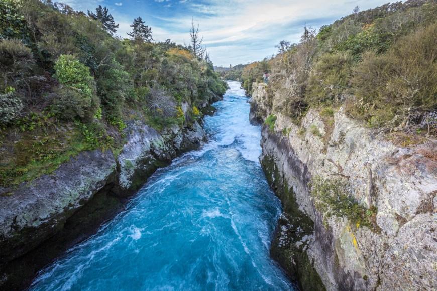 Huka Falls, Lake Taupo, North Island, New Zealand