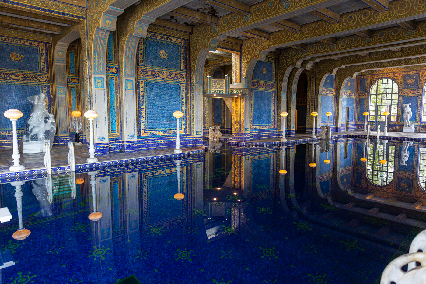 The indoor pool at Hearst Castle. The ending point for all Hearst Castle Tours