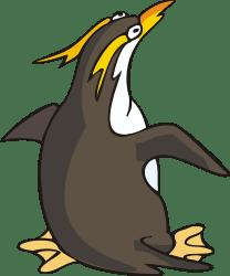 penguin clipart funny