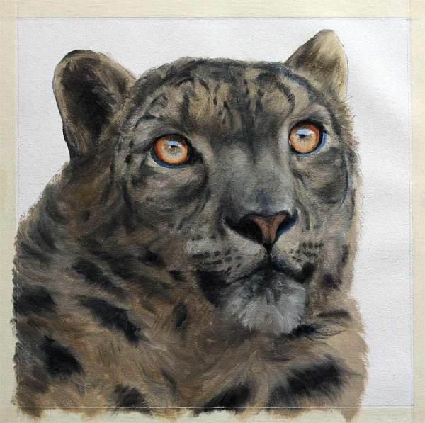 Snow Leopard Art Painting