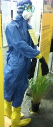 Protective Equipment against zoonotic diseases. Photo by Stephen M. Vantassel