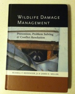 Reidinger Jr., R. F., & Miller, J., E. (2013). Wildlife Damage Management: Prevention, Problem Solving & Conflict Resolution. Baltimore, MD: The Johns Hopkins University Press.