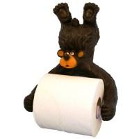 Hanging Bear Toilet Paper Holder | Wildlife Creations