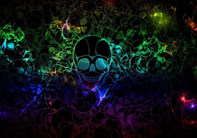 Abstract-Color-Skull-Wallpaper