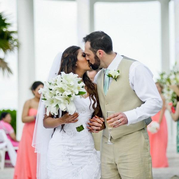 K & J, Beach Wedding