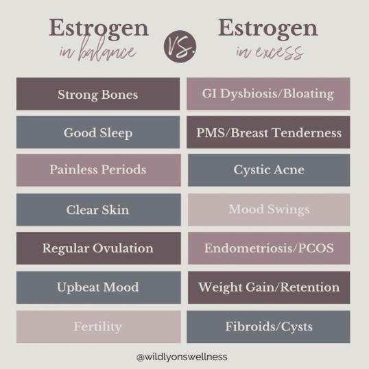 Estrogen In Balance vs. Estrogen In Excess
