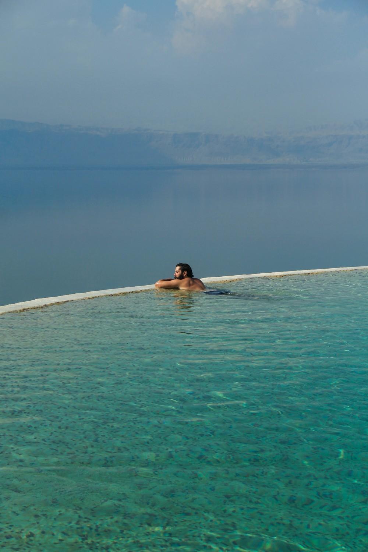 Dead Sea heated infinity edge pool Kempinski