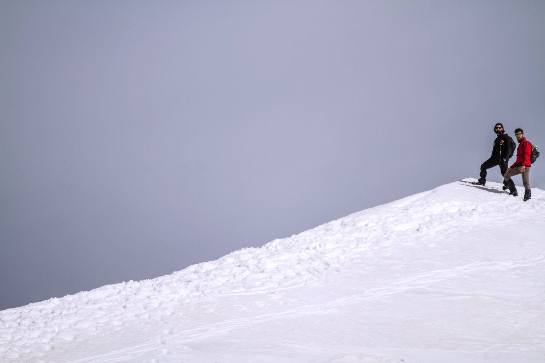 Summit Monte Rondinaio Winter Hike