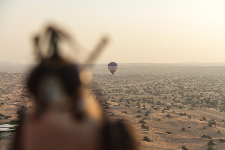 Hot Air Balloon Falcon Dubai Desert
