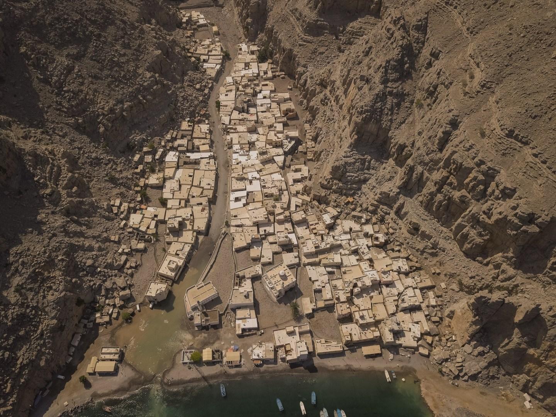 Kumzar Village Oman Drone