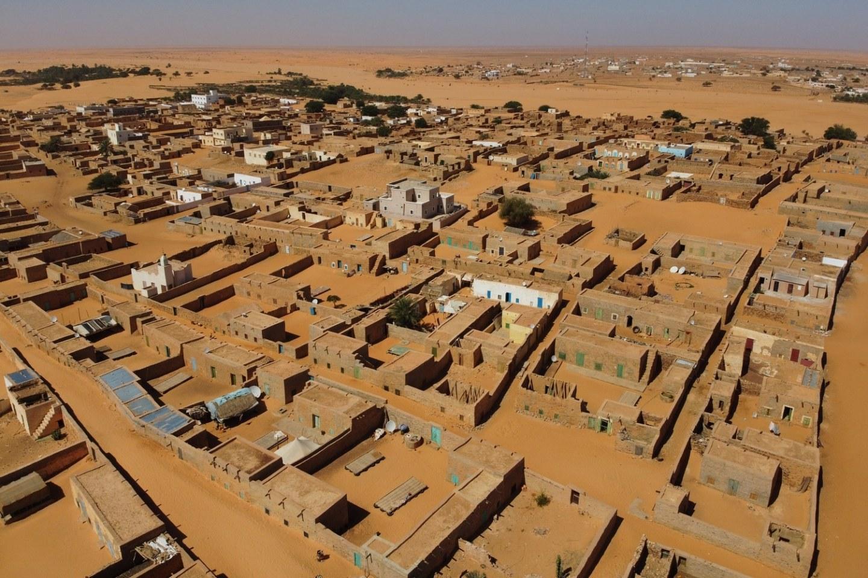 Chinguetti Mauritania Sahara Desert Drone shot