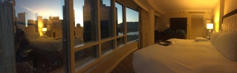 Room with a view at the Fairmont Waterfront