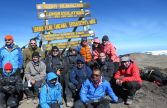 WildMedix Kilimanjaro Mountain Expedition 2016 on the summit