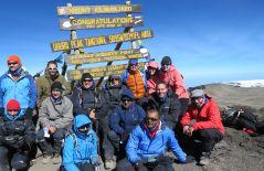 WildMedix Kilimanjaro Mountain Expedition 2016 on the summit