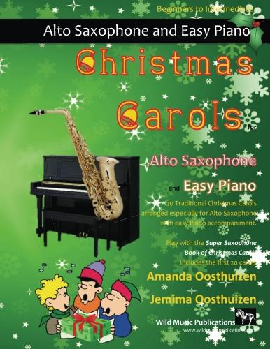 Christmas Carols for Alto Saxophone and Easy Piano