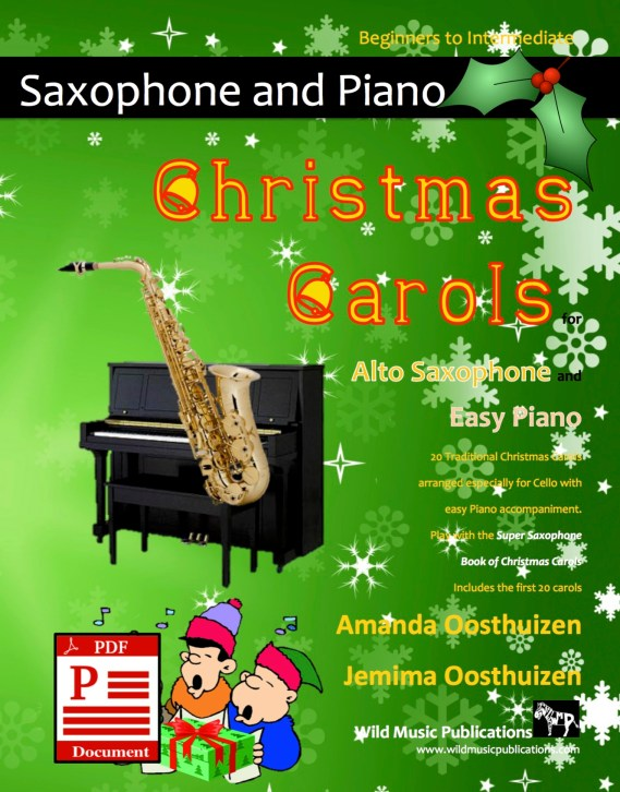 Christmas Carols for Alto Saxophone and Easy Piano Download