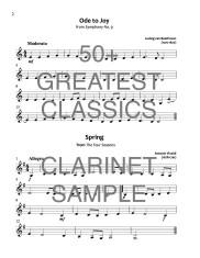50+ Greatest Classics Clarinet web sample