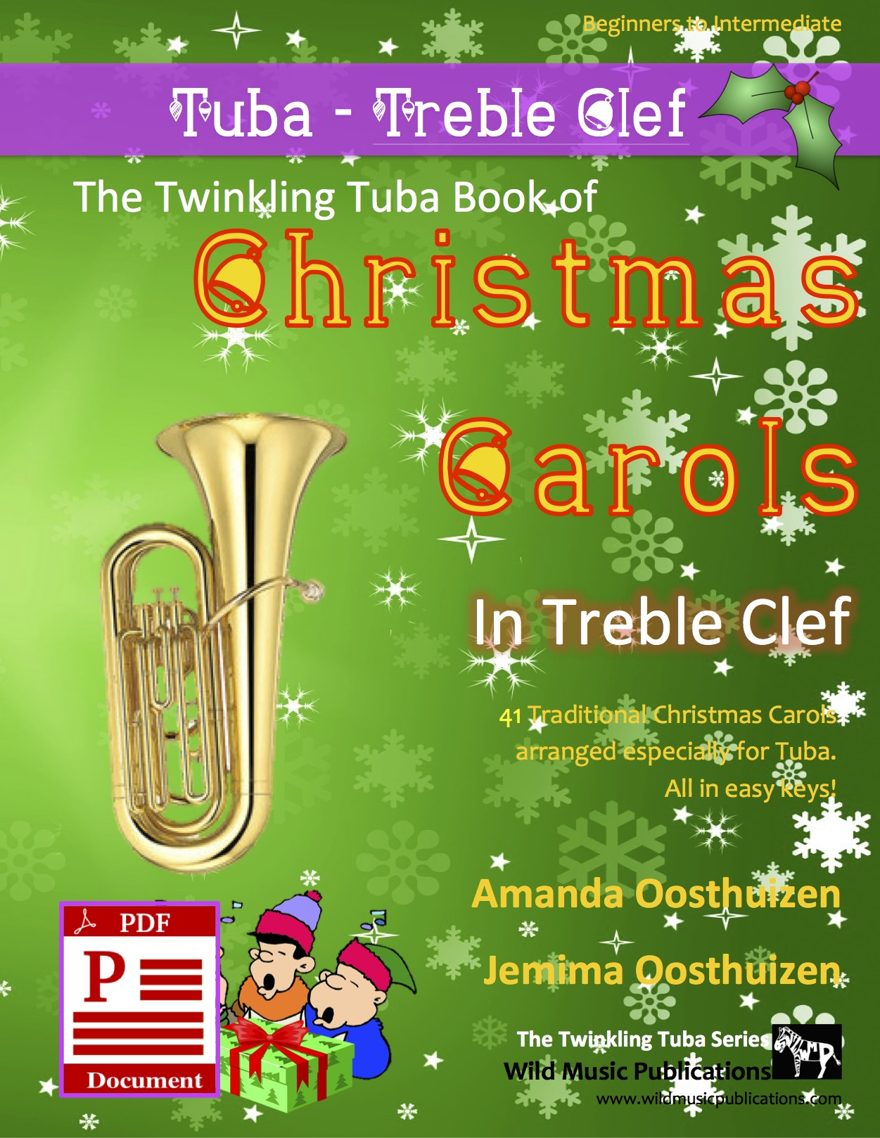Christmas Carols sheet music for tuba and piano