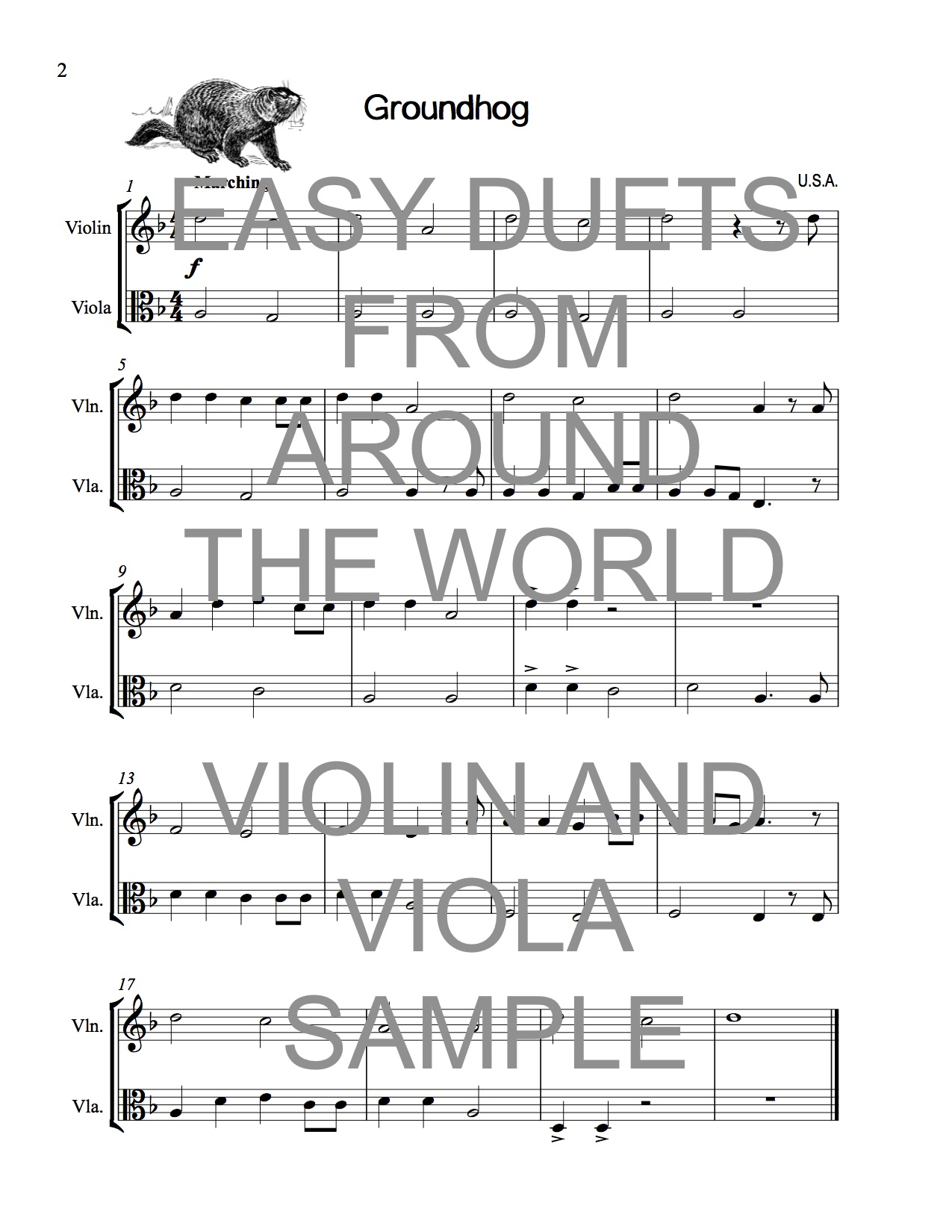 Easy Duets from Around the World for Violin and Viola