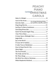 The Peach Piano Book of Very Easy Christmas Carols Web Sample CONTENTS