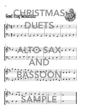 Christmas Duets for Alto Saxophones and Bassoon Web Sample