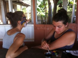 Make-up session in the farm