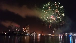 NYE Fireworks in the Port of Mobile from the Osprey