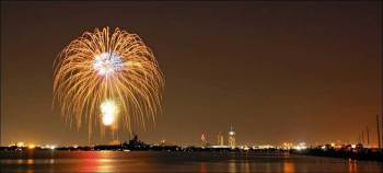 4th of July Fireworks on the USS Alabama