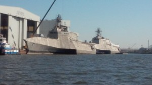US Navy's Littoral Combat Ships in Harbor