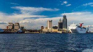 Downtown Mobile with Carnival Cruise Ship
