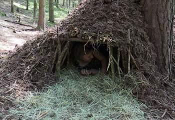 Survival schlafen Biwak