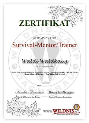 Zertifikat Survival Mentor
