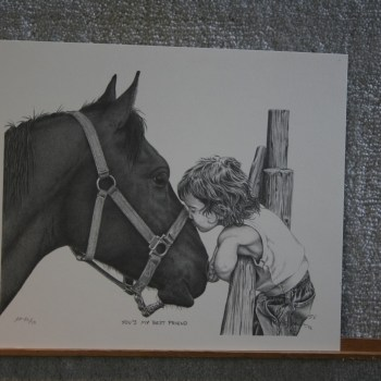 Bernie Brown - Child kissing a horse